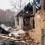 Około godziny 15:00 zauważono pożar w jednym z domów przy granicy wsi.