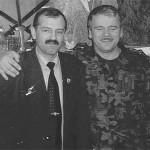 Generał Tadeusz Buk i Jerzy Kałecki na strzelnicy w Żaganiu 2006r.