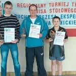 Zwycięzcy XV Grand Prix w kategorii M-20 Od lewej: Jacek Jankowski , Damian Siekierzycki oraz Dawid Balcerzak