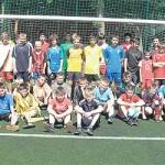 Uczestnicy wakacyjnej ligi piłki nożnej
