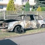 Z samochodu pozostały jedynie metalowe elementy