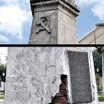 Symbol komunizmu nadal stoi w centrum Goliny.