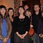 Z uśmiechniętą Sidonią Jędrzejewską i dziennikarzami z zaprzyjaźnionych redakcji