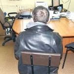 Sprawca kradzieży podczas przesłuchania na komendzie
