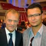 Donald Tusk z kandydatem do Sejmu Mateuszem Wojciechowskim