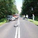Tragiczny wypadek na łuku drogi