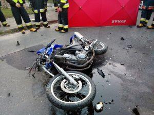 Wypadek w Pyzdrach. Nie żyje policjant pracujący w Słupcy