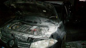 W Stawie zapalił się samochód